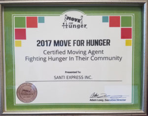 move for hunger certificate 2017